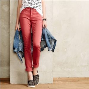 Anthropologie Pilcro Pink Stet Fit Skinny Jeans 28